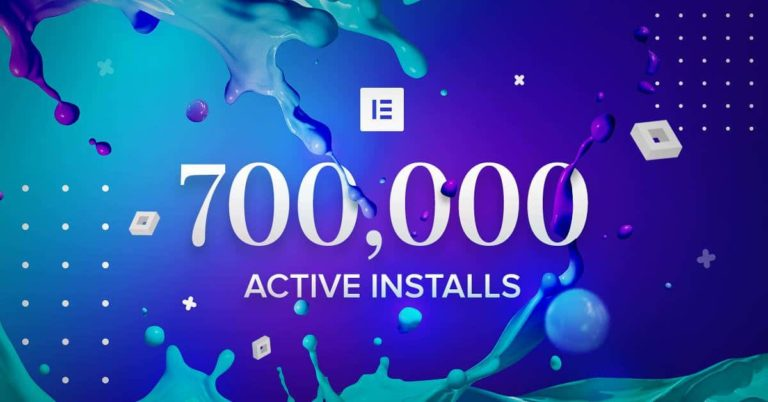 700000active installas of Elementor Free version