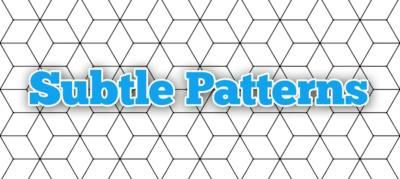 Subtle Patterns: pas de motif de s'en passer