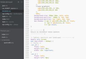 Edition de code avec Brackets