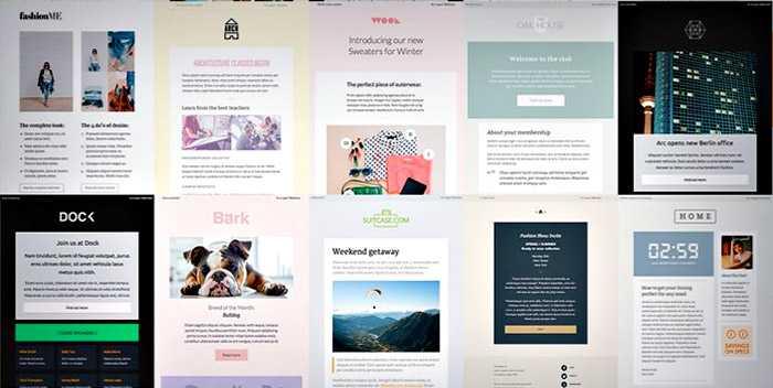 templates proposés avec Canvas