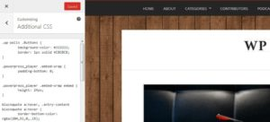 CSS personnalisées - WordPress 4.7