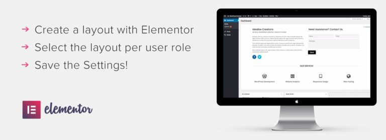 Extension Dashboard Welcome for Elementor pour WordPress