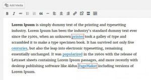 WordPress 4.6 - Détection des liens brisés
