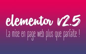 Elementor v2.5: la mise en page web plus que parfaite!