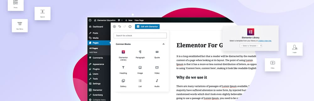 Elementor Blocks for Gutenberg