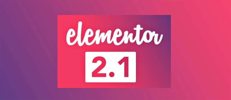 Nouvelle version Elementor v2.1