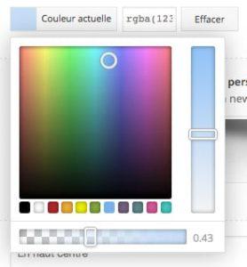 Nouveau colorpicker avec gestion RGBA