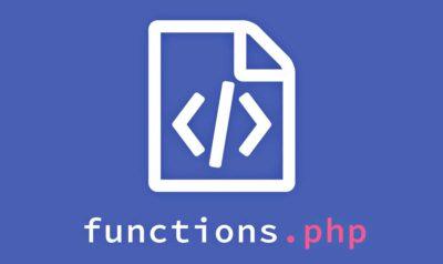 Un joli fichier functions.php pour votre WordPress