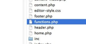 Le fichier functions.php