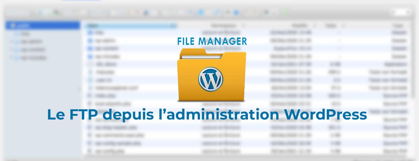 Extension File Manager pour WordPress