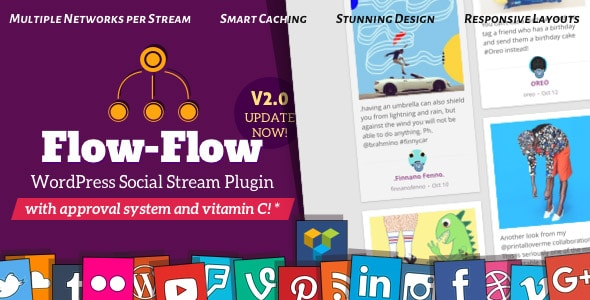 Extension WordPress Flow-Flow payante