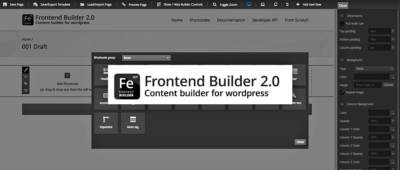 FrontEnd Builder 2.0 pour WordPress: un beau mécano pour construire ses pages en live
