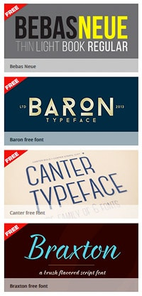 Exemples de typos sur Fontfabric