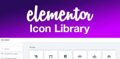 Elementor v2.6: des icônes à gogo!