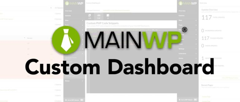 Custom Dashboard MainWP