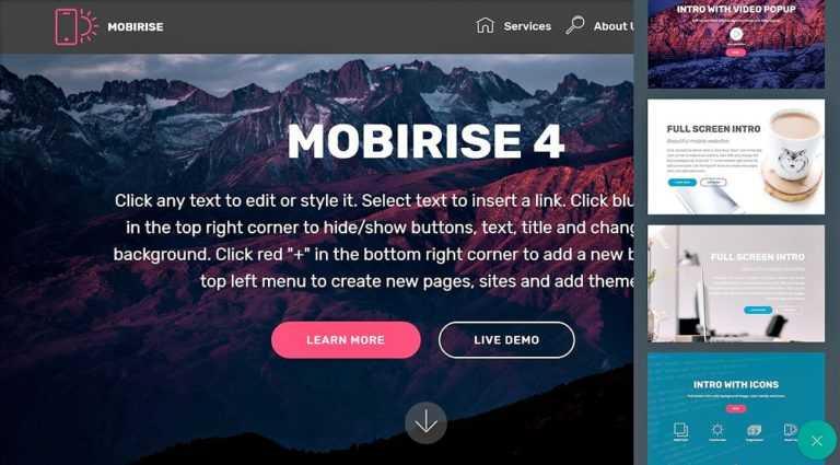 Mobirise: votre site Bootstrap <b>en quelques clics…</b>