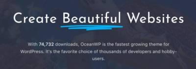 Thème OceanWP v1.4: il multiplie les mises en page