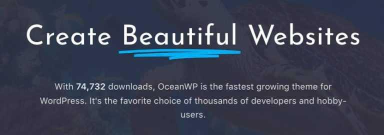 Thème OceanWP V1.4
