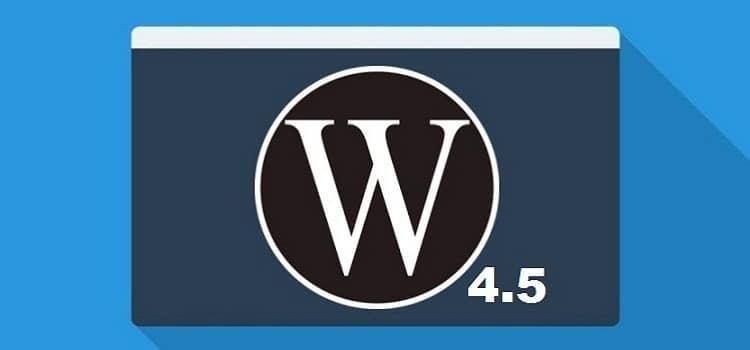 WordPress 4.5 <b>arrive!</b>