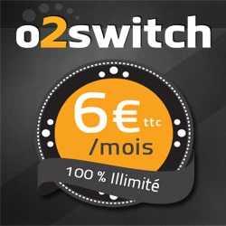 L'offre à 6€ TTC d'o2Switch