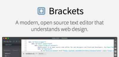 Éditeur html Open Source : Brackets passe en V.1.0