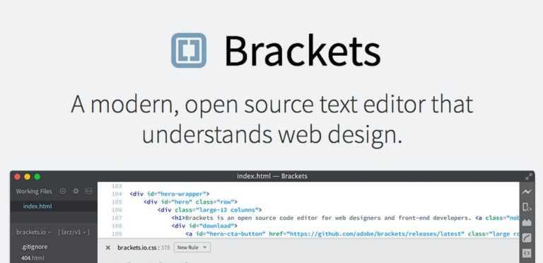 Éditeur html Open Source : <b>Brackets</b> passe en V.1.0