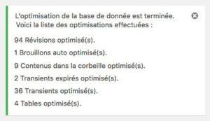 Optimisation de la base de données avec WP Rocket