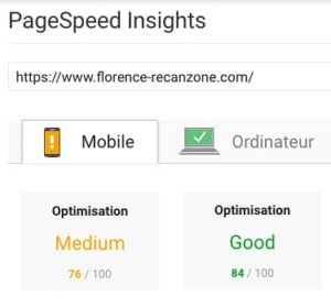Google insights après WP Rocket