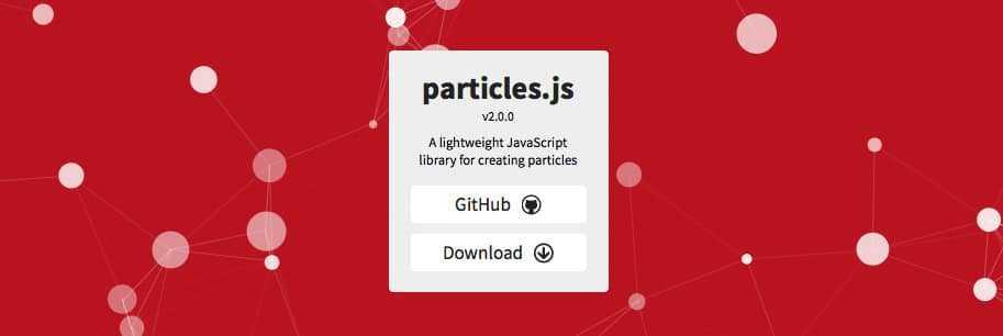 Script animation Particles.js