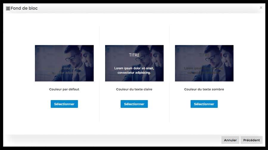Choix du traitement texte sur image - Pikcok