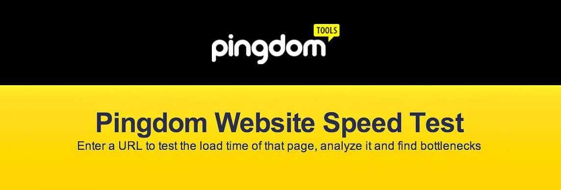 Pingdom Speedtest online tools