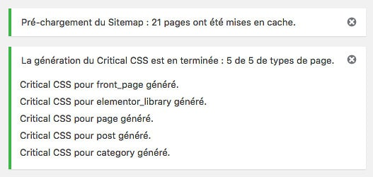 Préchargement du sitemap et génération des CSS