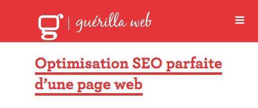 Guérilla Web - Les bonnes bases du référencement