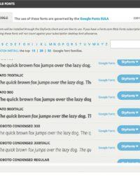 Sélection des typos Google Fonts pour SkyFonts