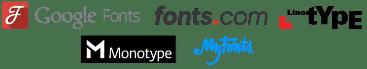Les plateformes pour SkyFonts