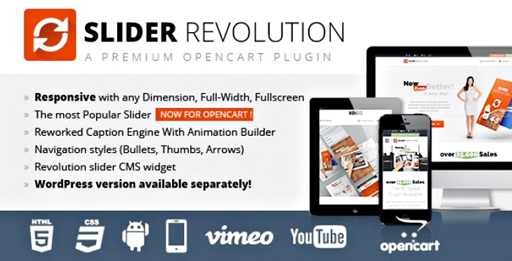 Extension WordPress Slider Revolution