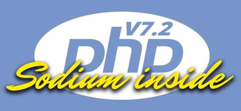 <b>Sodium</b> devient une extension Core de PHP