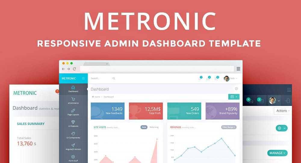 Framework HTML Metronic - Boostrap