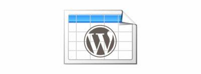 TablePress: de jolis tableaux avec WordPress