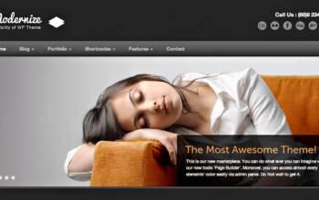 Thème WordPress Modernize: puissance plus!