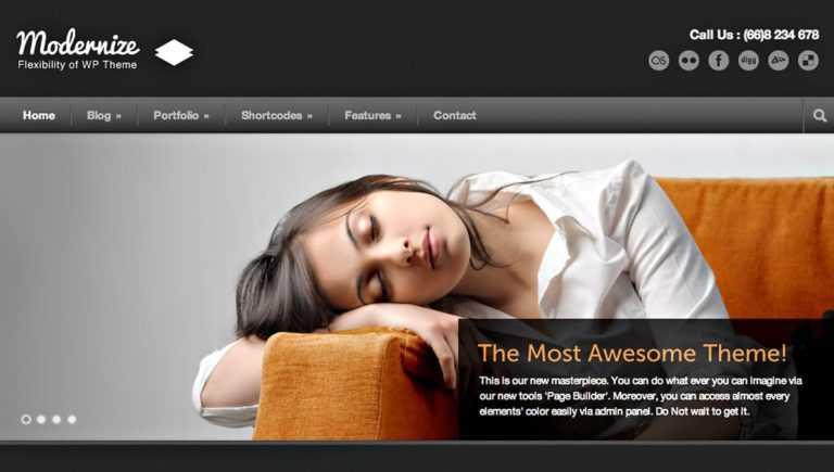 Thème WordPress Modernize <b>puissance plus!</b>