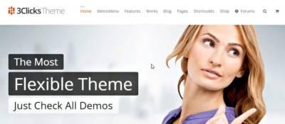 3Clicks: responsive, animé, design… un thème WordPress qui fait le poids!