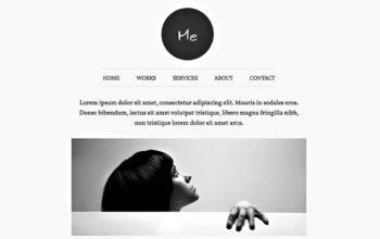 Thème WordPress: Me, un portfolio design et épuré