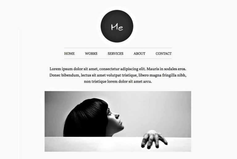 Thème WordPress: Me, un portfolio <b>design et épuré</b>