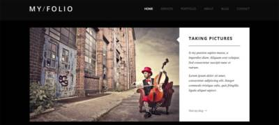 My Folio, un thème WordPress orienté photobook… mais avec de l'Ajax