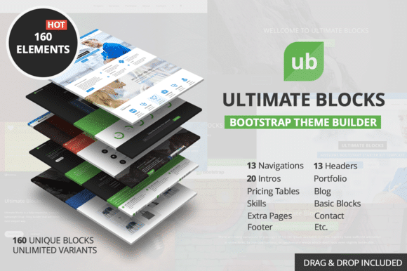 Ultimate Blocks - Page builder Bootstrap