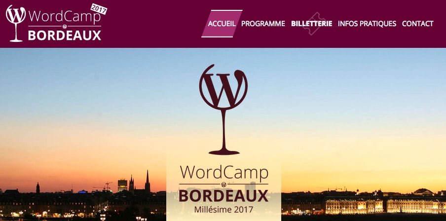 WordCamp le 18 mars 2017 à Bordeaux