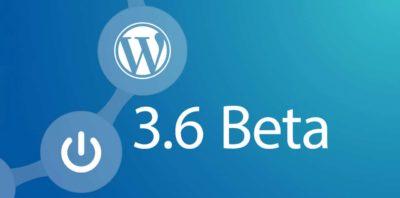 WordPress bêta 3.6V1