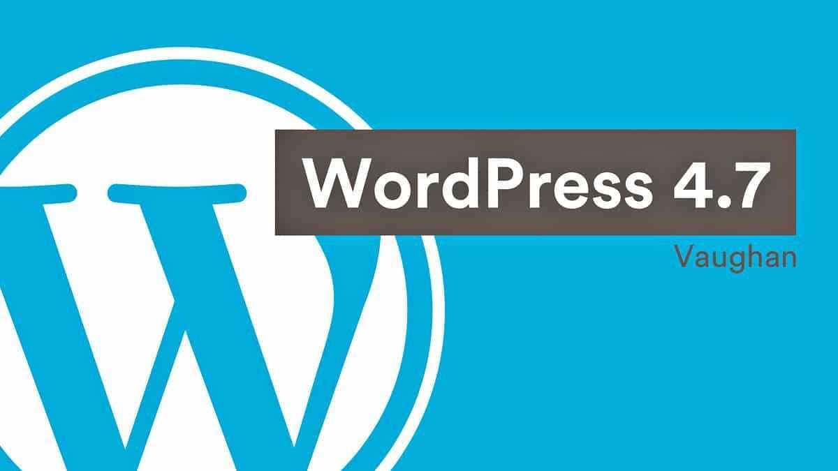 WordPress v4.7