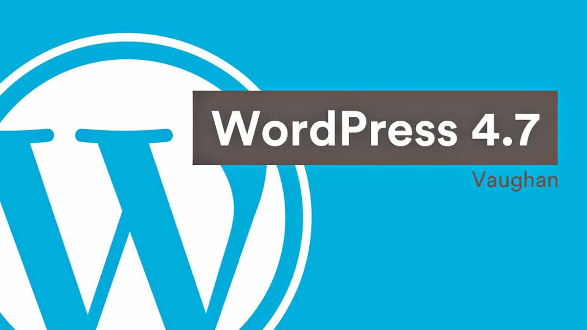 WordPress v4.7